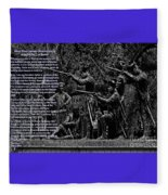 Black When Haitians Were Heroes In America Series Print No. 2 With Text Fleece Blanket