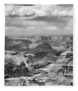 Black White Filter Grand Canyon  Fleece Blanket