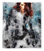 Black Widow Scarlett Johansson Fleece Blanket