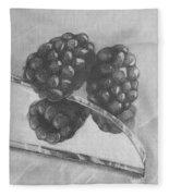 Blackberries On Glass Fleece Blanket