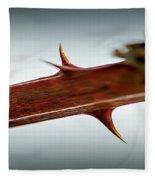 Blackberry Thorns Fleece Blanket