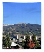 Blackcomb Mountain Fleece Blanket
