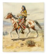 Blackfoot Indian. A Crow Scout Fleece Blanket