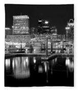 Blackness In The Harbor Fleece Blanket