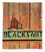 Blacksmith Sign Fleece Blanket