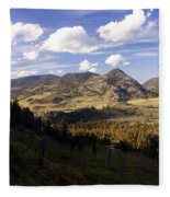 Blacktail Road Landscape Fleece Blanket