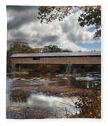 Blair Covered Bridge Fleece Blanket