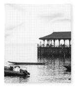 Blake Pier In Stanley, Hong Kong Fleece Blanket