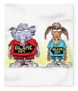 Blame Him Fleece Blanket