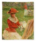 Blanche Hoschede Painting Fleece Blanket