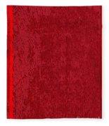 Blank Red Book Cover Fleece Blanket