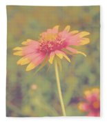 Blanket Flower Portrait Fleece Blanket
