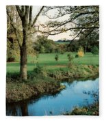 Blarney Castle Grounds Fleece Blanket