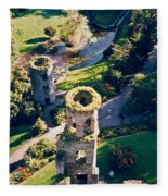 Blarney Castle Ruins In Ireland Fleece Blanket