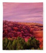 Blazing Autumn Fleece Blanket