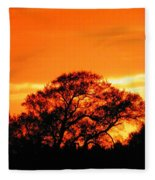 Blazing Oak Tree Fleece Blanket