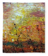Blazing Prairie Fleece Blanket