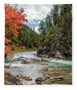 Blazing Red Mountain Maple, Greys River Fleece Blanket