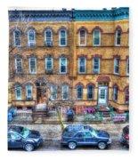 Bleecker Street In Bushwick - Brooklyn Fleece Blanket