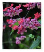 Bleeding Heart Vine Fleece Blanket