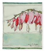 Bleeding Hearts II Fleece Blanket
