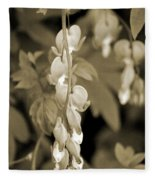 Bleeding Hearts In Sepia Fleece Blanket