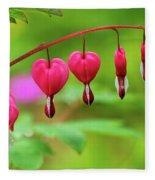 Bleeding Hearts - Lamprocapnos-spectabilis Fleece Blanket