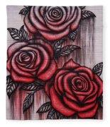 Bleeding Roses Fleece Blanket