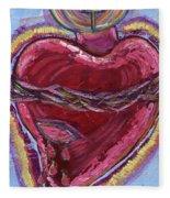 Bleeding Sacred Heart Fleece Blanket