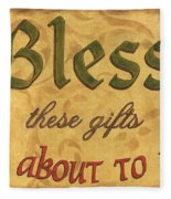 Bless These Gifts Fleece Blanket