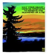 Blessings Of A New Day Fleece Blanket
