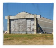 Blimp Hanger From Closed El Toro Marine Corps Air Station Fleece Blanket