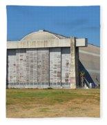 Blimp Hanger From Closed El Toro Marine Corps Air Station Fleece Blanket