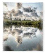 Blind Pass Bayou Sanibel Island Florida Fleece Blanket