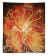 Blissful Fire Angels Fleece Blanket