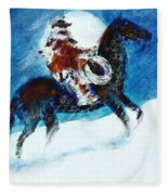 Blizzard Moon-the Last Stray Fleece Blanket