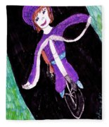 Biking Holiday Fleece Blanket