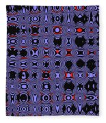 Bllue And Black Abstract #4 Fleece Blanket