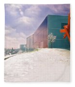 Bloch Building At The Nelson Atkins Museum Fleece Blanket