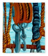 Block And Tackle Fleece Blanket