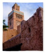 Blocks And High Tower Architecture From Orlando Florida Fleece Blanket