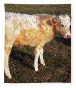 Blond Calf Fleece Blanket