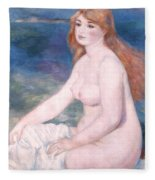Blonde Bather II Fleece Blanket