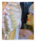 Blonde, Braids, Bangs And Beautiful Fleece Blanket