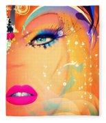 Blonde De Vogue Fleece Blanket