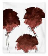 Blood Flower Part2 Fleece Blanket