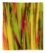 Blood Grass Fleece Blanket