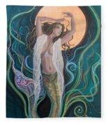 Blood Moon Goddess  Fleece Blanket