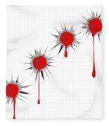 Blooded Bullet Holes Fleece Blanket