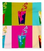 Bloody Mary Pop Art Panels Fleece Blanket